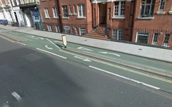 The all-time favorite – the 'lets crash into each other' cycle lane