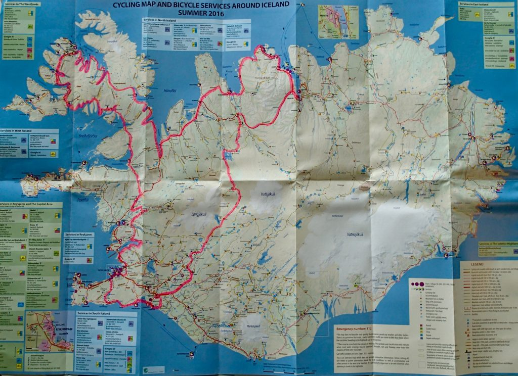 My route in Iceland