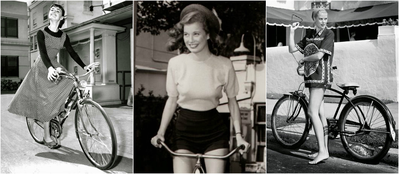 Retro Photo Gallery: 20 Beautiful 1950s Hollywood Actresses Riding Their Bikes
