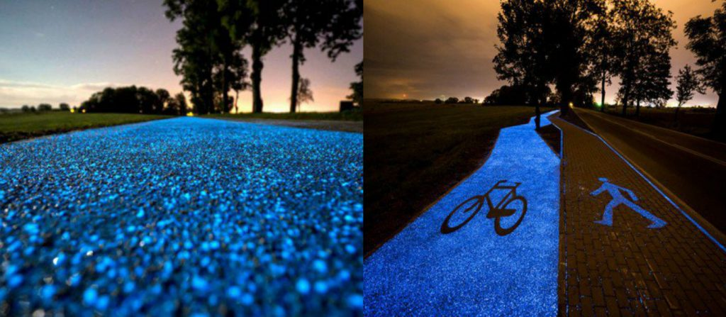beautiful-glow-dark-bicycle-paths-future