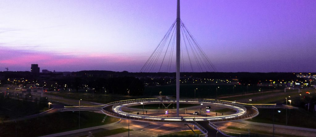 dutch-built-elevated-roundabout-just-bikes