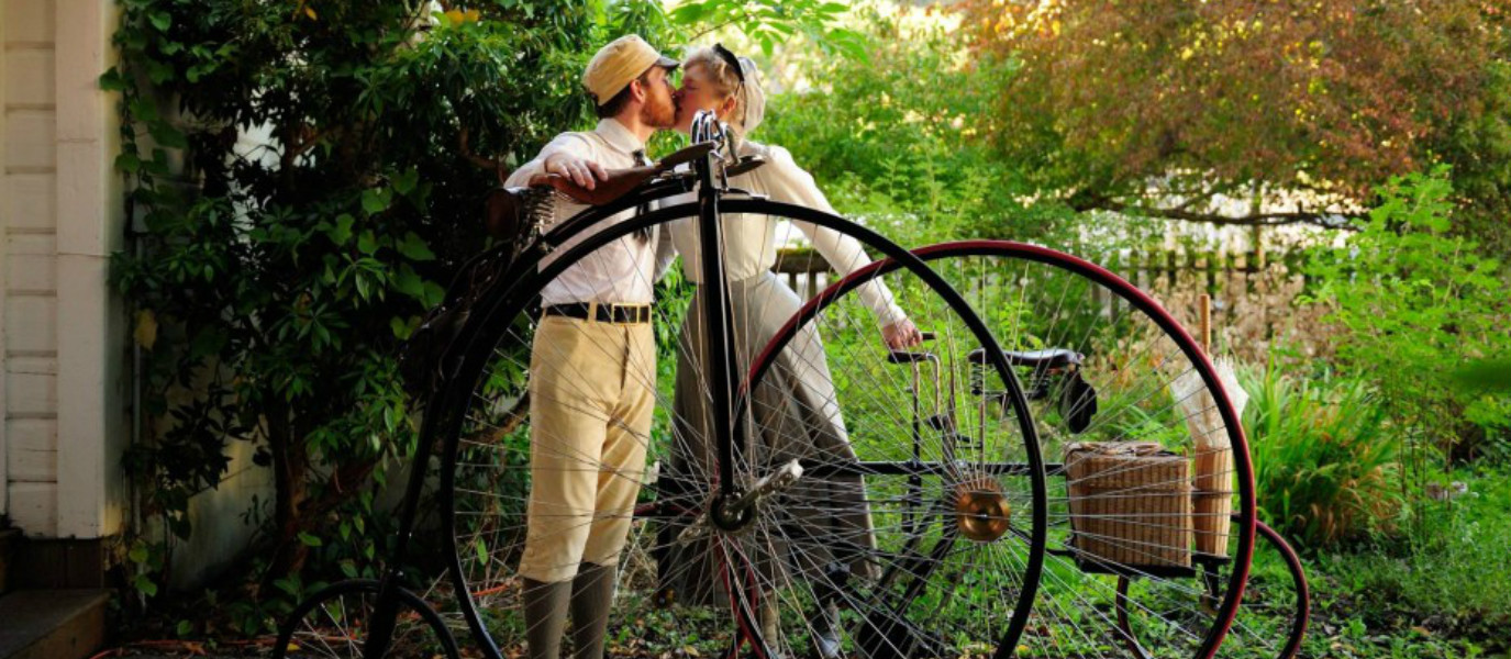 Victorian Couple Cycle Back to the Future