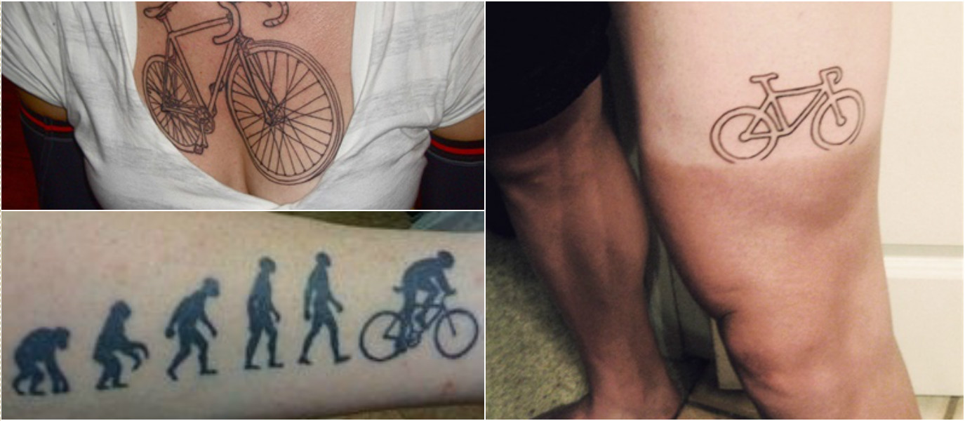 Top 10 Cycling Tattoos: Would You Like to Have One?