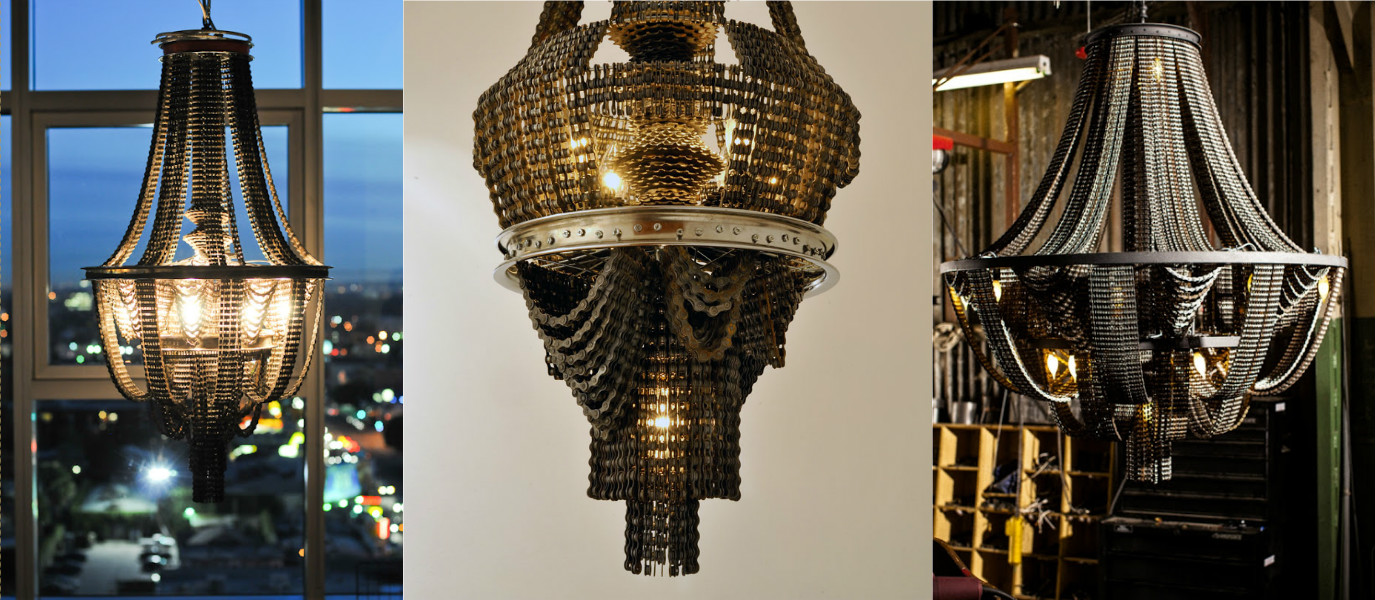Bike Scraps Turned Into Art: Check Out These Amazing Chandeliers!
