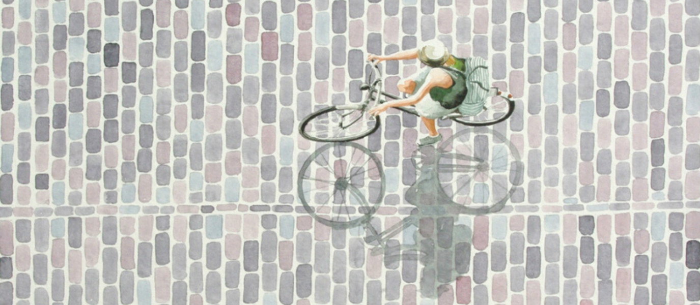 Berlin-Based Painter Loves to Show the Beauty of Cycling in Watercolours