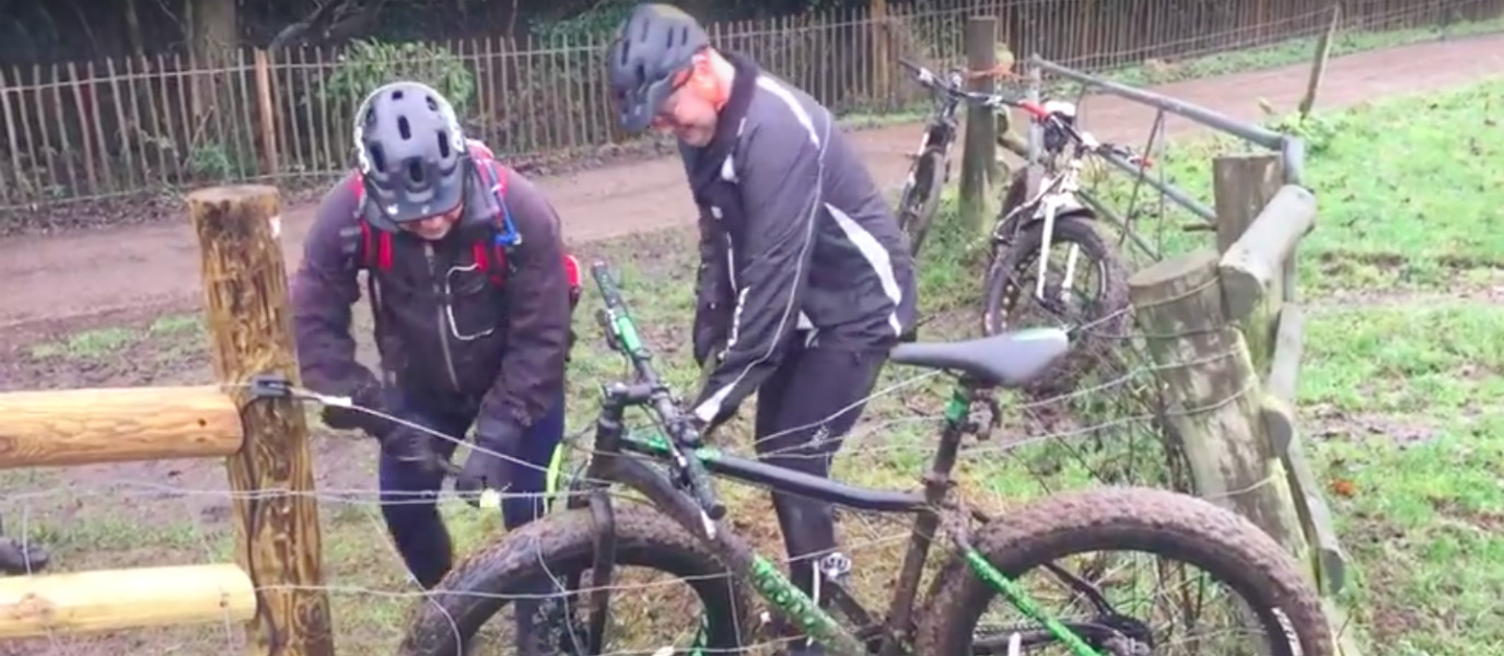 VIDEO: The Struggle Is Real (and Hilarious): British Cyclist Snares His Bike in an Electric Fence