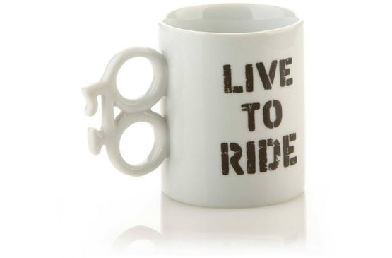 Any cyclist would be happy to drink from this mug!