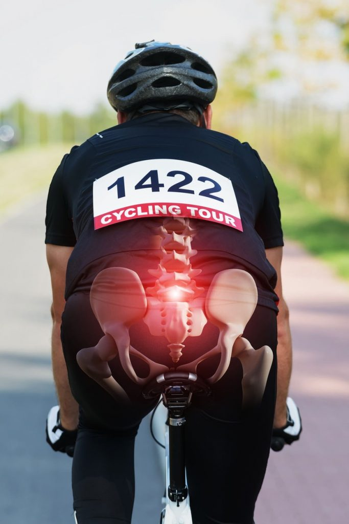 After sitting in the offices, our posture is far from good, and many of us have pains in our back. Cycling can make it even worse. The best answer is to get a professional bike fit done. It will cost some money, but you'd be amazed how much difference small tweaks can make. Once you've found that perfect riding position, those aches and pains in your back disappear pretty quickly.