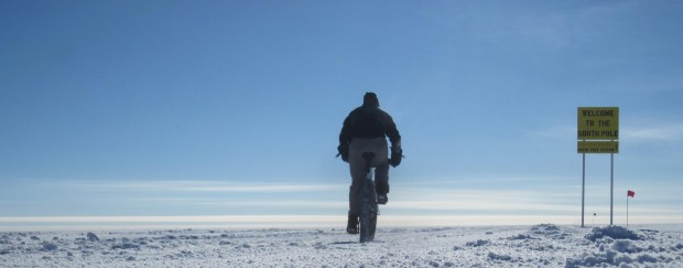 Riding a Surly Pugsley at the South pole