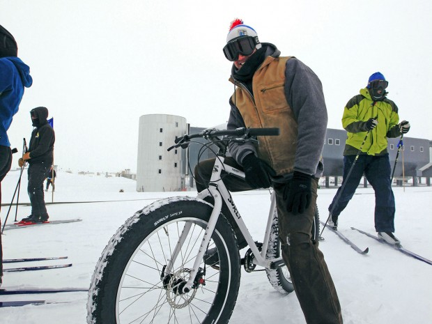 Surly Pugsley on a South pole