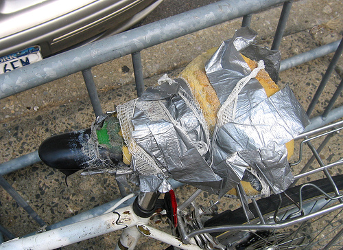 Duct taped saddle, Photo: ducttapegenius.com