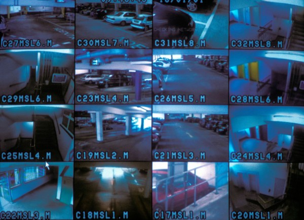 CCTV surveillance monitors