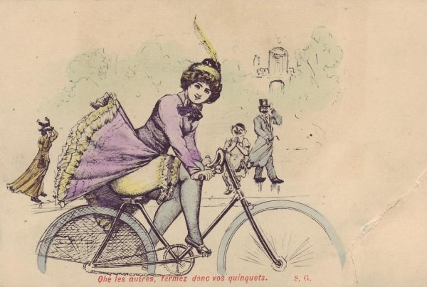 Bicycle riding also necessitated more practical clothing for women and led to significant changes to female attire in society.