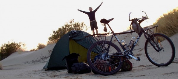 I wouldn't do it again. Four years was a big chunk of my life but I cannot think of a better adventure for a person than to set off on a bike with basic camping gear and see what adventures happen.