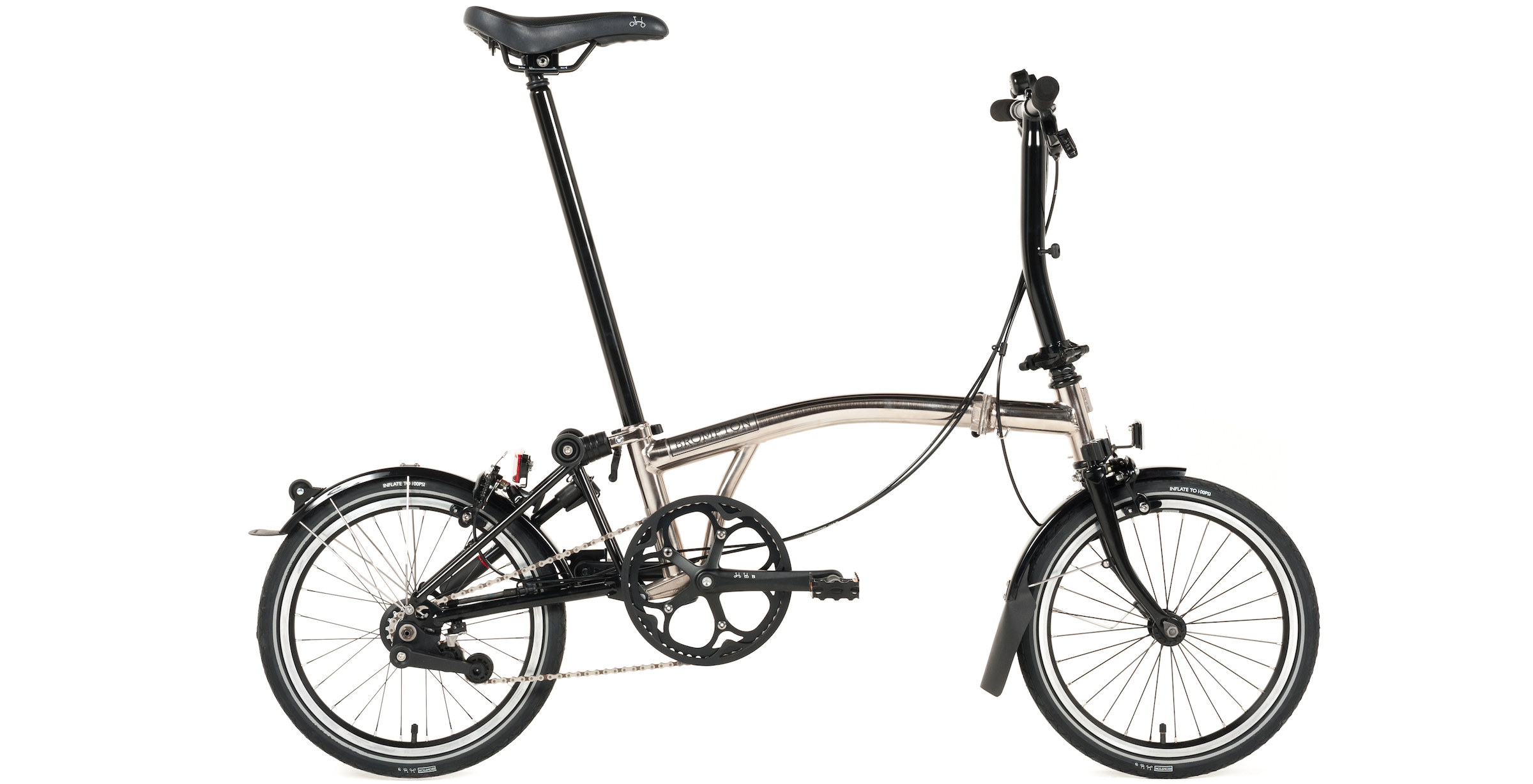 Brompton Nickel Plated Bike