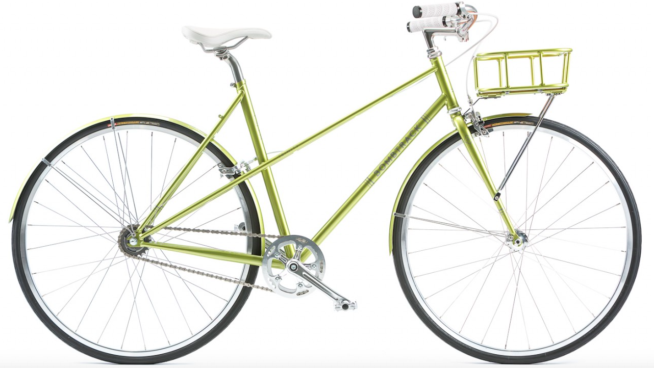 """I'm usually disappointed by nearly everything about bikes designed by Bomb Track – they once displayed a 26"""" steel framed fixie with high rise handlebars and pegs. The roadie snob in me snorted in disgust at the impracticality of all these design choices. But take a look at the Trinity. It's clearly designed for women – yet I still want one. Just look at it."""