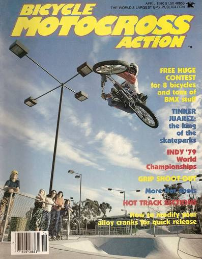 Tinker was named the first King of the Skateparks by Bicycle Motocross Action magazine. He even graced the April 1980 cover of the magazine, making it one of the first purely freestyle magazine covers on a BMX magazine. Although no contest was ever held, it was a general declaration for his highly advanced manoeuvres that no one could match at that time.