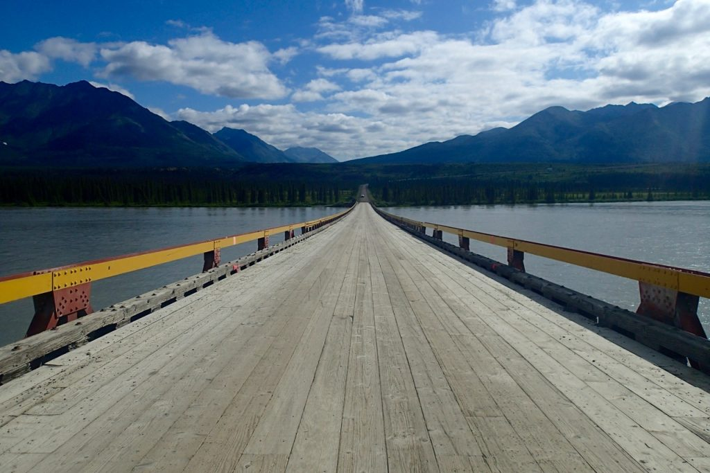 The only bridge on the Denali highway