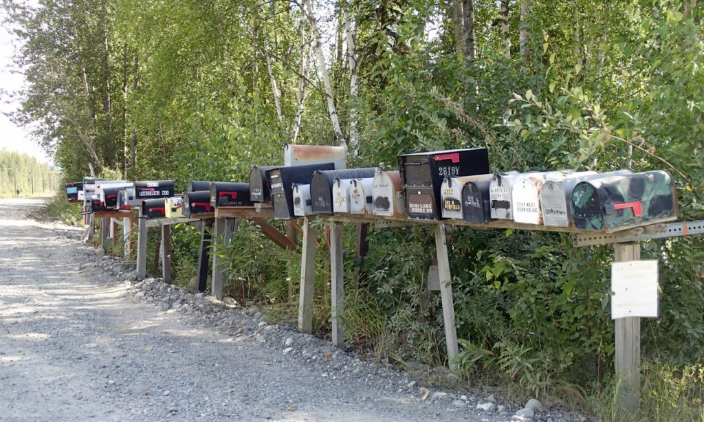 Typical American mailboxes