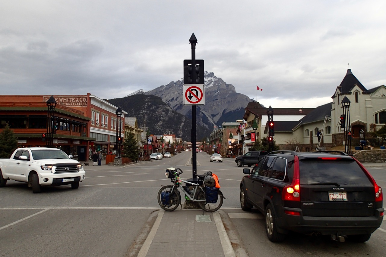 The main street of Banff as I leave.
