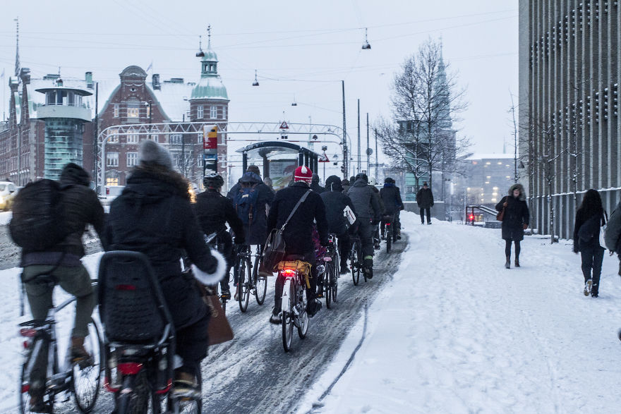 You don't see such cycling density in any other city even during springtime.