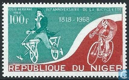 150th anniversary of the bicycle (Niger 1968)