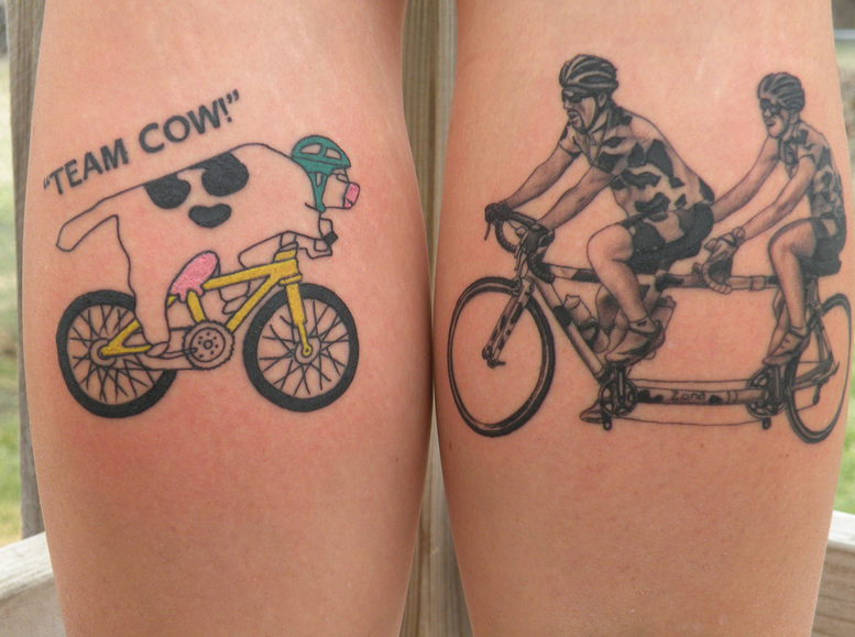 15 Cool Cycling Tattoos: When You've Got It Under Your Skin