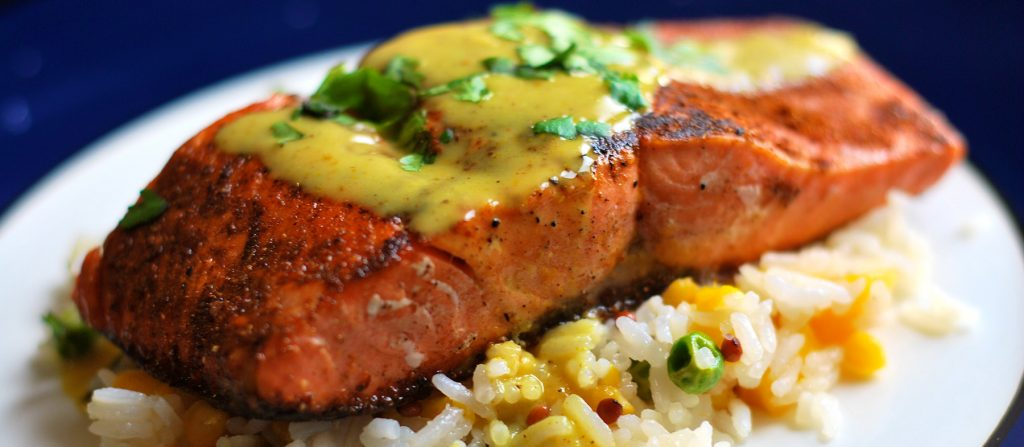 glycemic-index-salmon-basil-coconut-rice