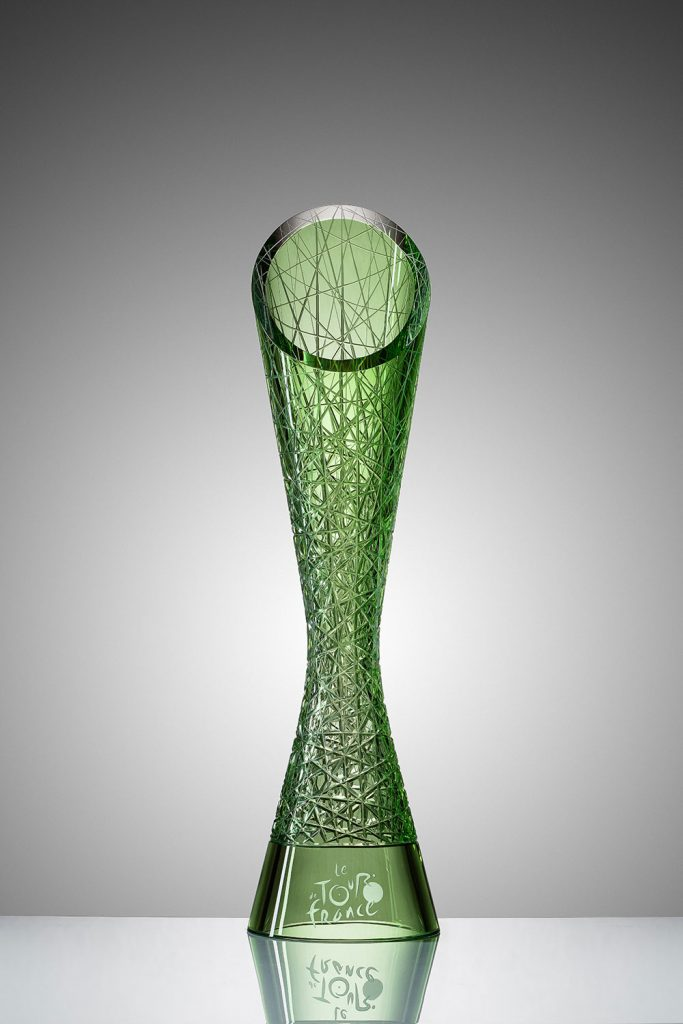 Have a first look at the the glass trophy of tour de How to design a trophy