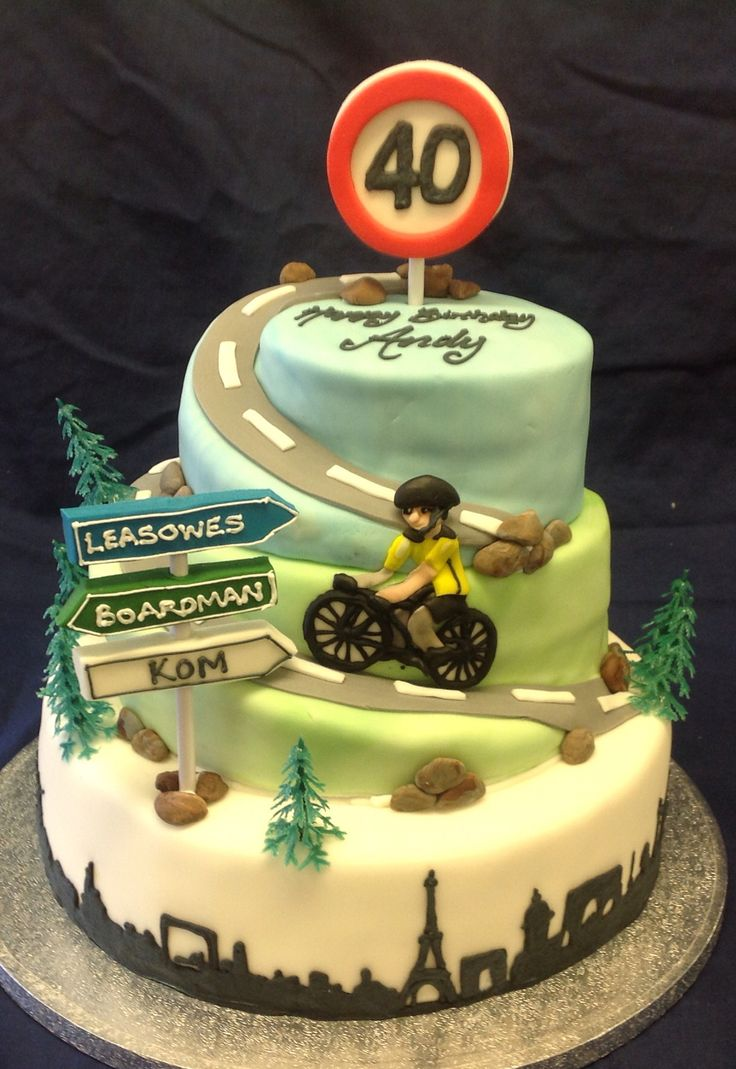 Pleasant Photogallery Bicycle Themed Cakes Are The Answer No Matter The Personalised Birthday Cards Beptaeletsinfo