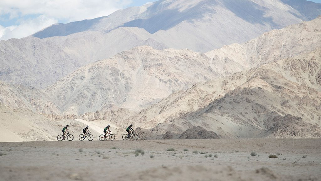 The riders are getting acclimatized on the plains a few days before the race