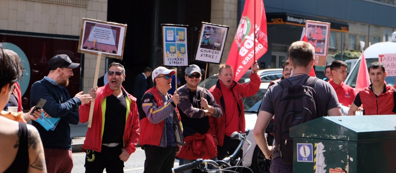 Blood Couriers Strike Over Pay Cuts in the UK - We Love Cycling magazine